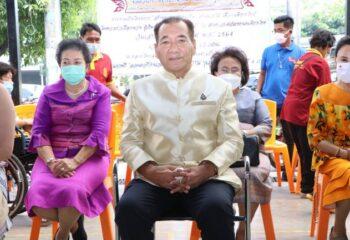 หม่อมราชวงศ์ปณิธาน จรูญโรจน์ เปิดศูนย์สลากกินแบ่งฯ หนุนอาชีพคนพิการ ณ ตลาดไทยสมบูรณ์สแควร์ อ.พระประแดงจ.สมุทรปราการ (ชมคลิป)